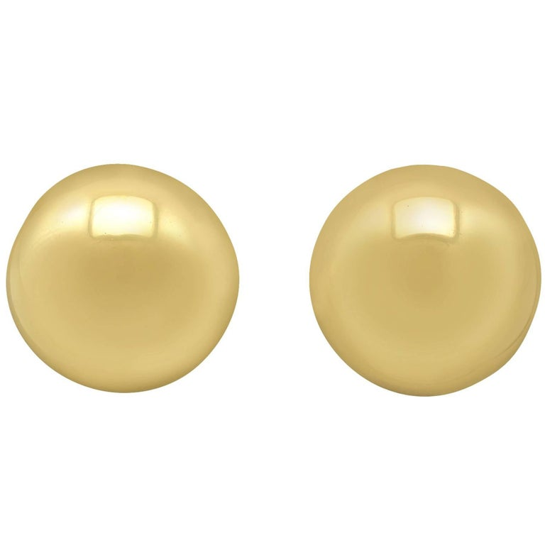 Yellow Gold Stud Earrings, 1993