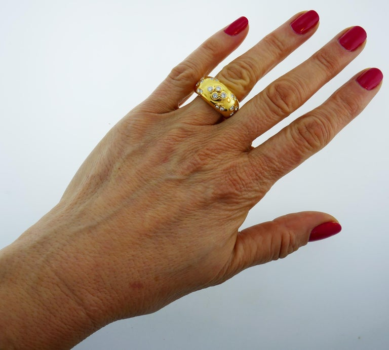 1994 Cartier Diamond Gold Band Ring For Sale 4