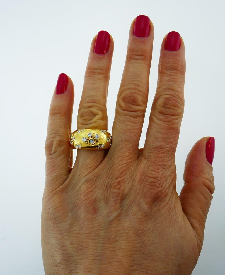 1994 Cartier Diamond Gold Band Ring For Sale 5