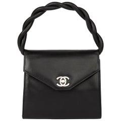 1994 Chanel Black Lambskin Vintage Mini Classic Kelly