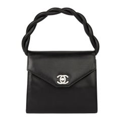1994 Chanel Black Lambskin Vintage Mini Classic Kelly