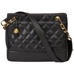 1994 Chanel Black Quilted Caviar Leather Vintage Medium Timeless Shoulder Bag