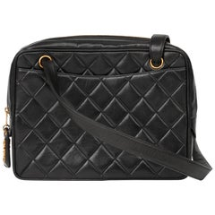 1994 Chanel Black Quilted Lambskin Vintage Timeless Shoulder Bag