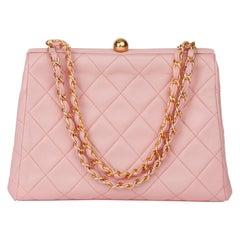1994 Chanel Pink Quilted Lambskin Vintage Timeless Frame Bag