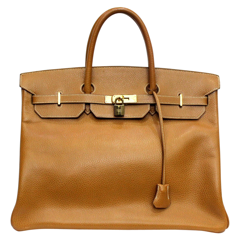 1994 Hermès Caramel Leather Birkin 40 Bag