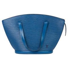 1994 Louis Vuitton Blue Epi Leather Vintage Saint Jacques PM