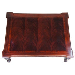 1994 Thomasville Flame Mahogany Chippendale Ball Claw Coffee Cocktail Table