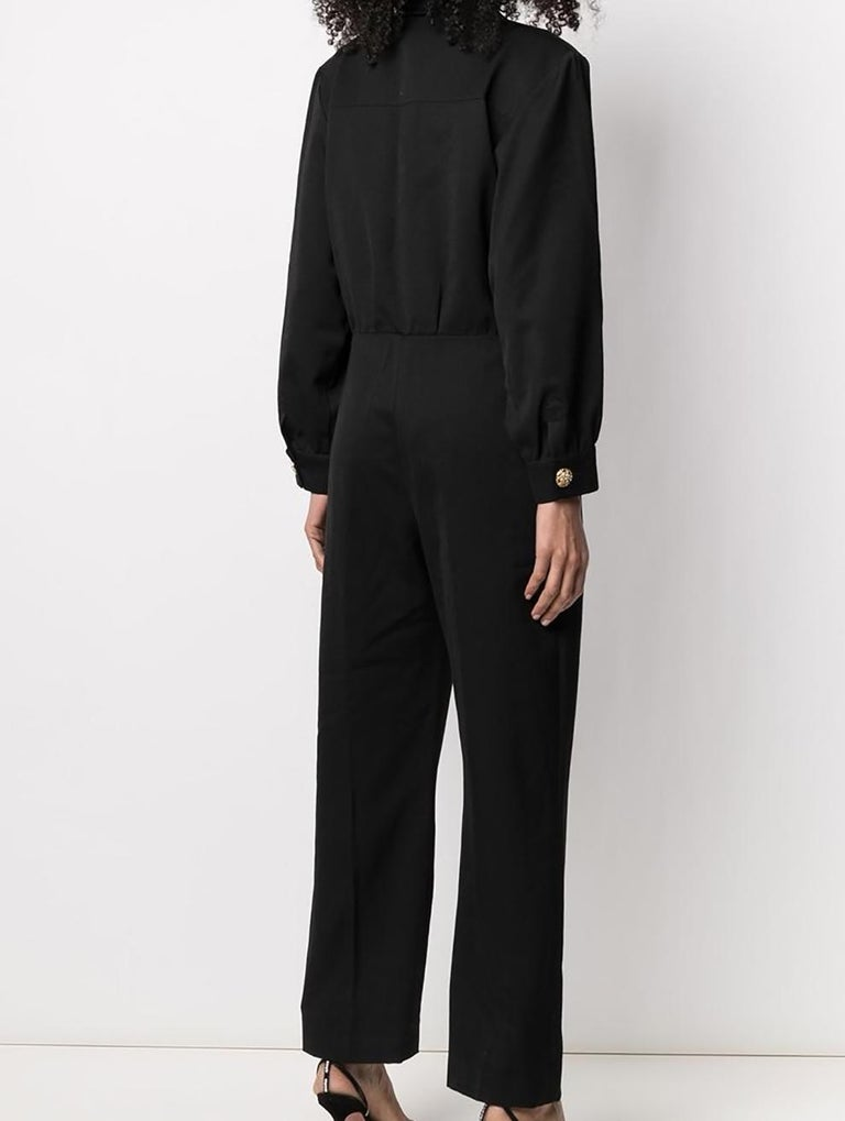 1994 Yves Saint Laurent YSL Evening Black Jumpsuit In Excellent Condition For Sale In Paris, FR