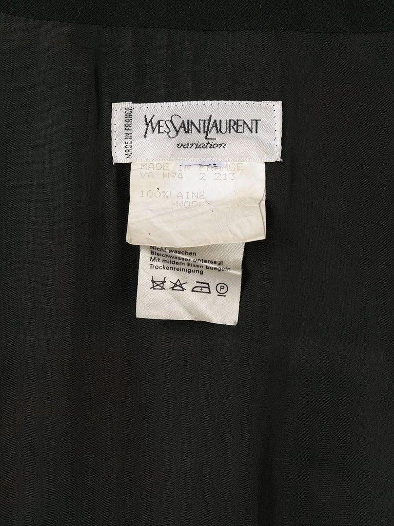 1994 Yves Saint Laurent YSL Evening Black Jumpsuit For Sale 1