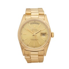 1995 Rolex Day-Date Yellow Gold 18238 Wristwatch
