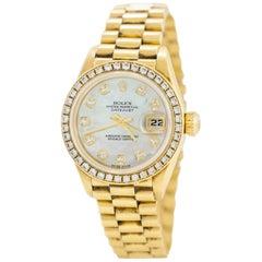 1995 Rolex Gold Diamond Ladies Datejust Watch
