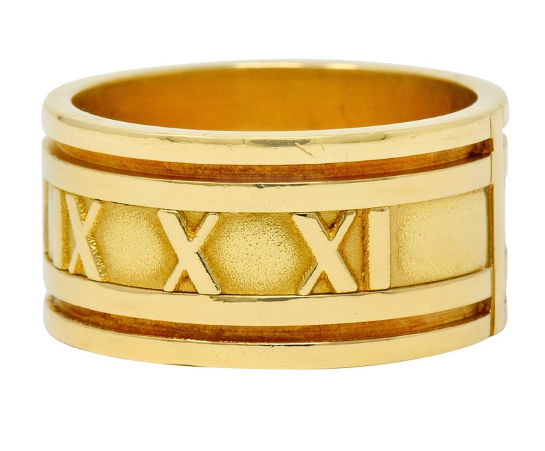 Contemporary 1995 Tiffany & Co. 18 Karat Yellow Gold Unisex Atlas Band Ring