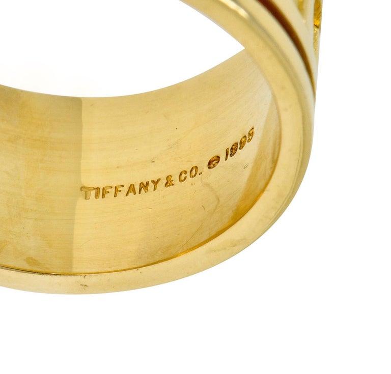 Women's or Men's 1995 Tiffany & Co. 18 Karat Yellow Gold Unisex Atlas Band Ring