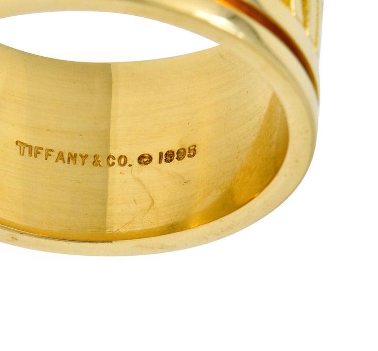 1995 Tiffany & Co. 18 Karat Yellow Gold Unisex Atlas Band Ring 1