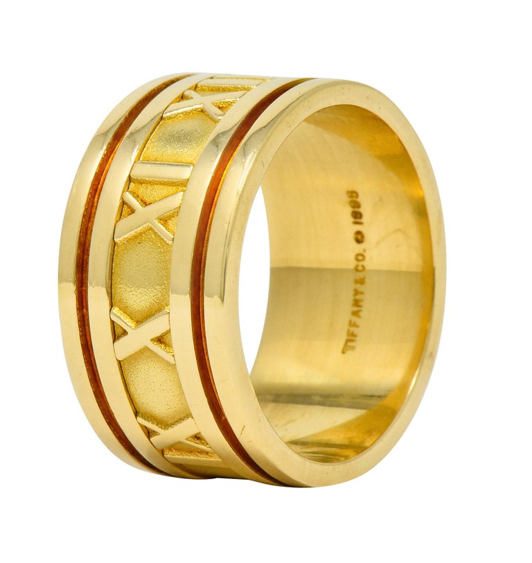 1995 Tiffany & Co. 18 Karat Yellow Gold Unisex Atlas Band Ring 3