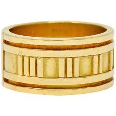 1995 Tiffany & Co. 18 Karat Yellow Gold Unisex Atlas Band Ring