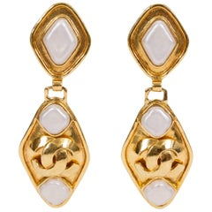 1995 Vintage Chanel Gold & Gripoix Drop Earrings