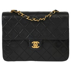 1996 Chanel Black Quilted Lambskin Mini Flap Bag