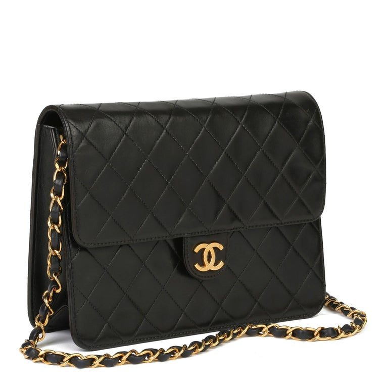 CHANEL Black Quilted Lambskin Vintage Small Classic Single Flap Bag  Xupes Reference: HB3911 Serial Number: 4961211 Age (Circa): 1996 Accompanied By: Chanel Dust Bag, Box, Authenticity Card Authenticity Details: Authenticity Card, Serial Sticker