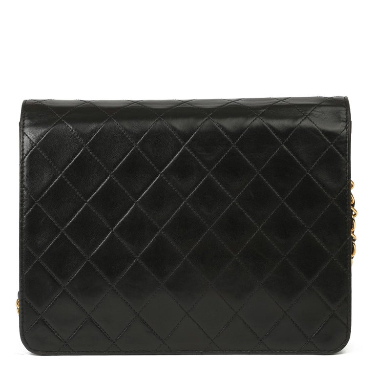1996 Chanel Black Quilted Lambskin Vintage Small Classic Single Flap Bag For Sale 1