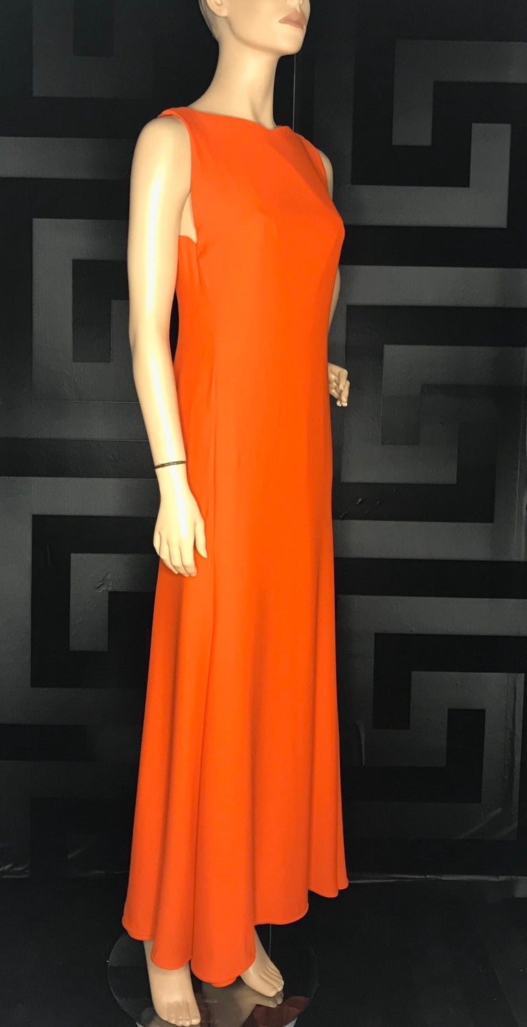 Red 1996 RARE VINTAGE GIANNI VERSACE LONG DRESS as seen on PRINCESS DIANA For Sale