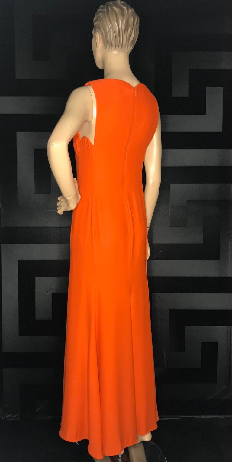 Women's or Men's 1996 RARE VINTAGE GIANNI VERSACE LONG DRESS as seen on PRINCESS DIANA For Sale