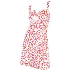 1996C Chanel Splatter Print Keyhole Mini Dress