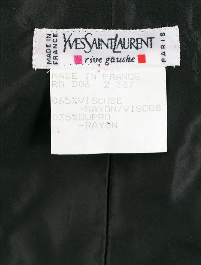 1996s Iconic Yves Saint Laurent Black Velvet Dress Press Helmut Newton Image For Sale 2