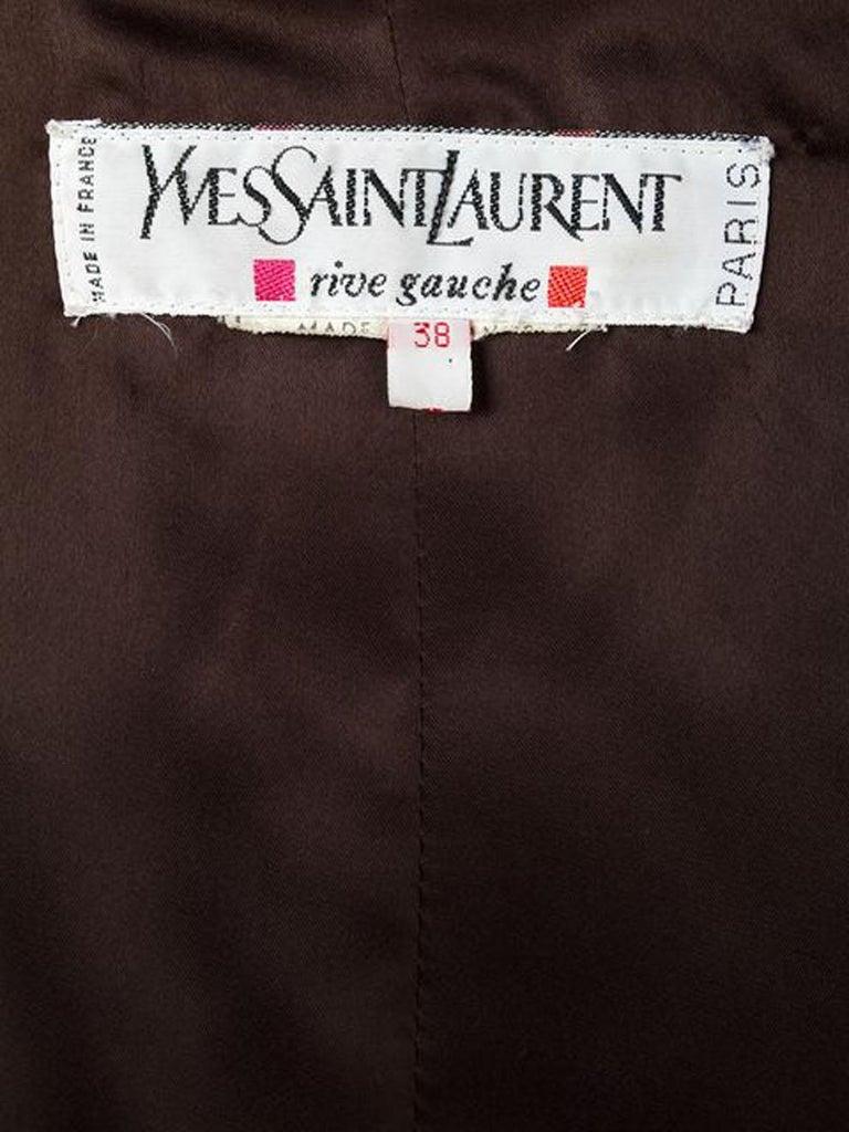 1996s Yves Saint Laurent Catwalk Animal Print Silk Coat For Sale 1