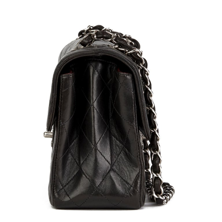 1997 Chanel Black Lambskin Vintage Double Sided Classic Flap Bag  In Good Condition For Sale In Bishop's Stortford, Hertfordshire