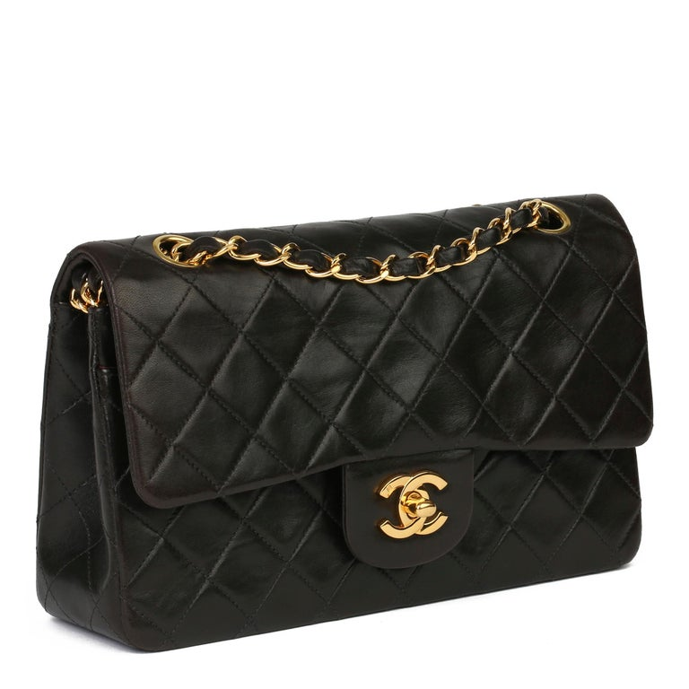 CHANEL Black Quilted Lambskin Leather Vintage Small Classic Double Flap Bag  Xupes Reference: HB3930 Serial Number: 5030837 Age (Circa): 1997 Accompanied By: Chanel Dust Bag, Authenticity Card Authenticity Details: Authenticity Card, Serial Sticker