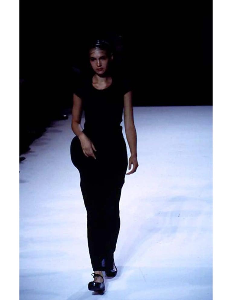 1997 COMME DES GACONS black 'lumps and bumps' runway dress For Sale 6