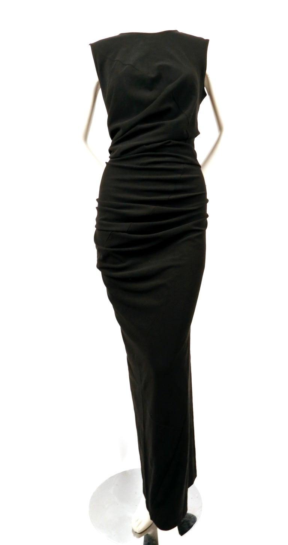 Black 1997 COMME DES GACONS black 'lumps and bumps' runway dress For Sale