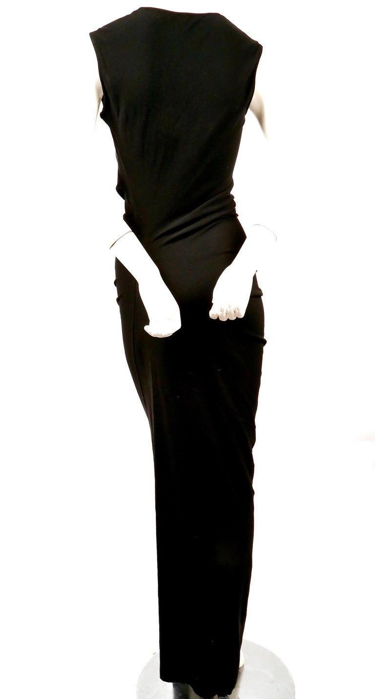 1997 COMME DES GACONS black 'lumps and bumps' runway dress For Sale 3