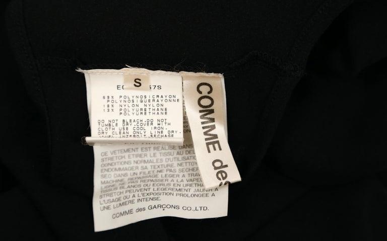 1997 COMME DES GACONS black 'lumps and bumps' runway dress For Sale 4