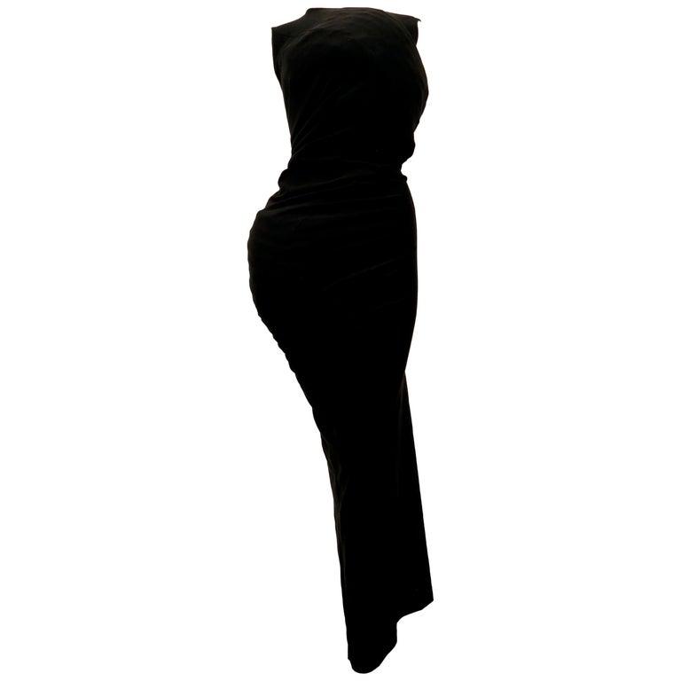 1997 COMME DES GACONS black 'lumps and bumps' runway dress For Sale