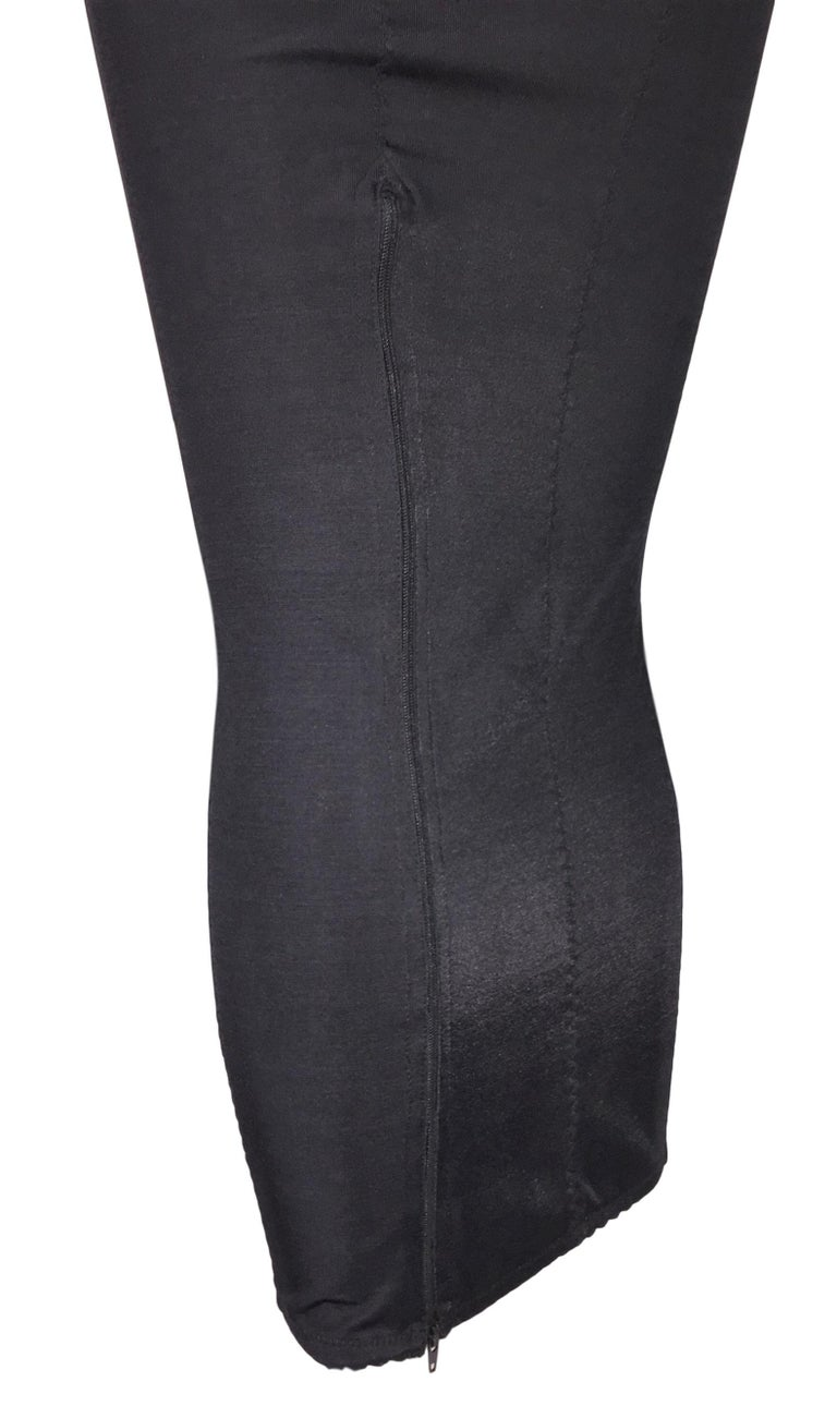 Women's 1997 Dolce & Gabbana Pin-Up Black Wiggle Zip Down Dress For Sale