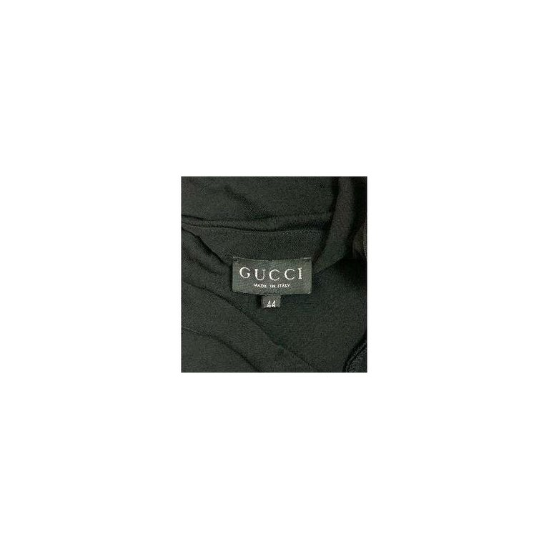 1997 Gucci by Tom Ford Semi-Sheer Extra Long Black Tank Dress 44 In Good Condition For Sale In Yukon, OK