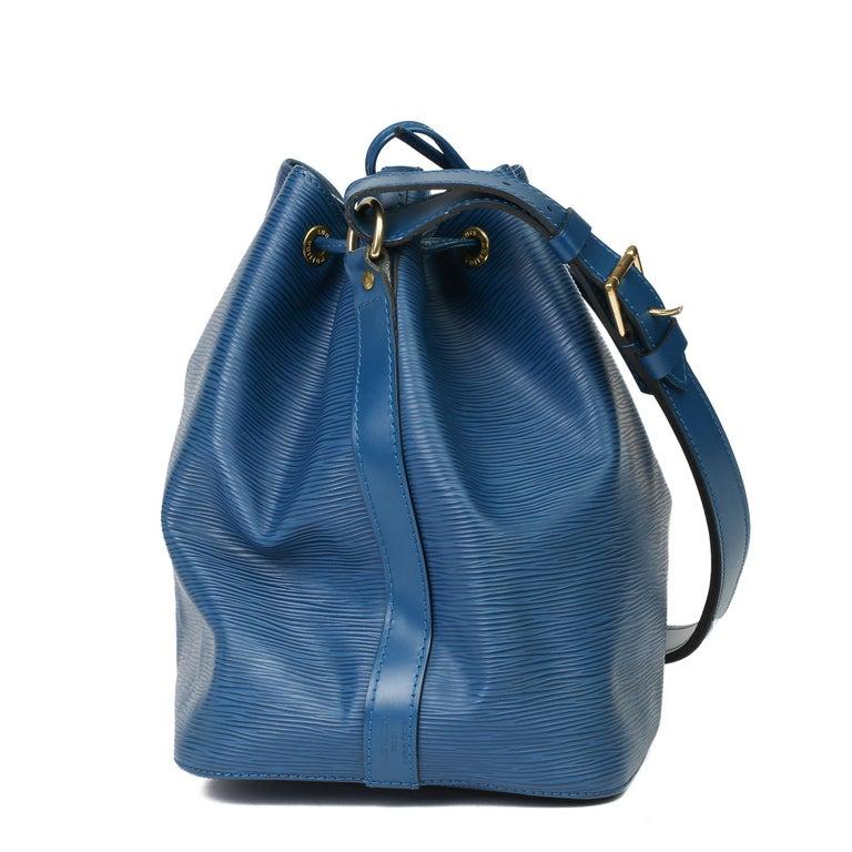 1997 Louis Vuitton Blue Epi Leather Vintage Petit Noé For Sale 6