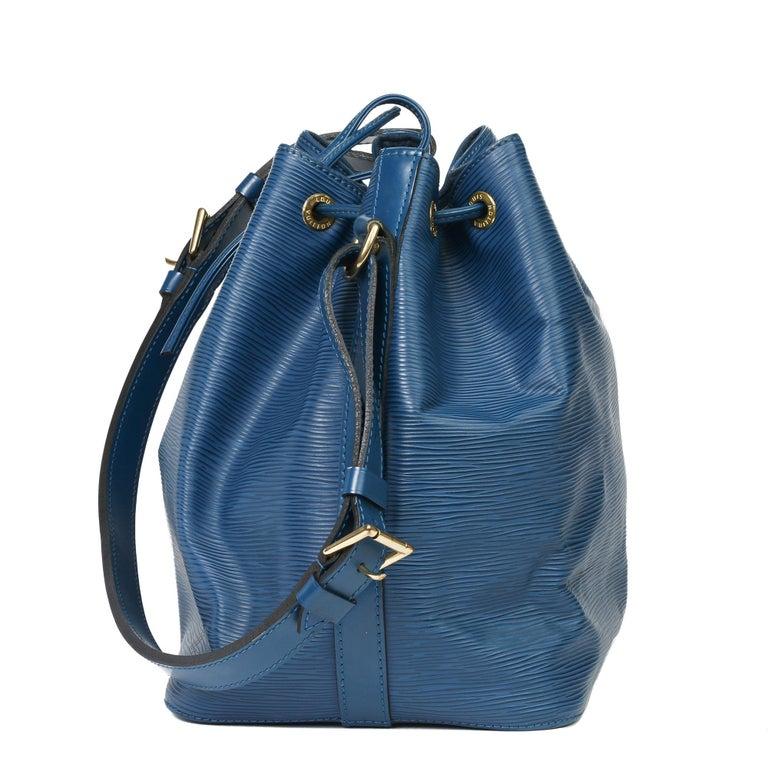 1997 Louis Vuitton Blue Epi Leather Vintage Petit Noé For Sale 7