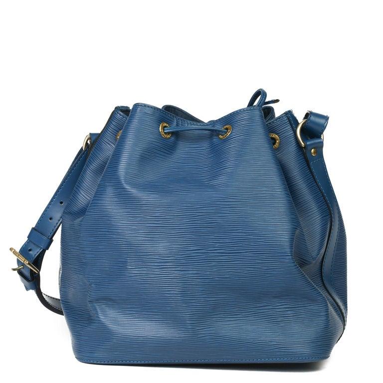 1997 Louis Vuitton Blue Epi Leather Vintage Petit Noé For Sale 8