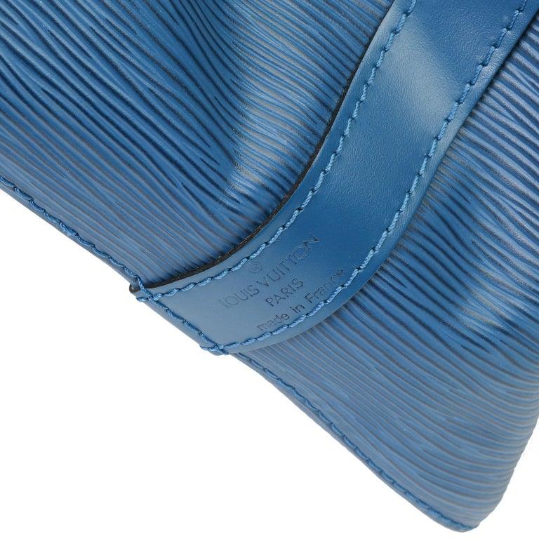 1997 Louis Vuitton Blue Epi Leather Vintage Petit Noé For Sale 2