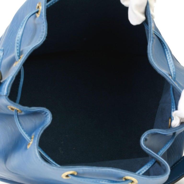1997 Louis Vuitton Blue Epi Leather Vintage Petit Noé For Sale 3
