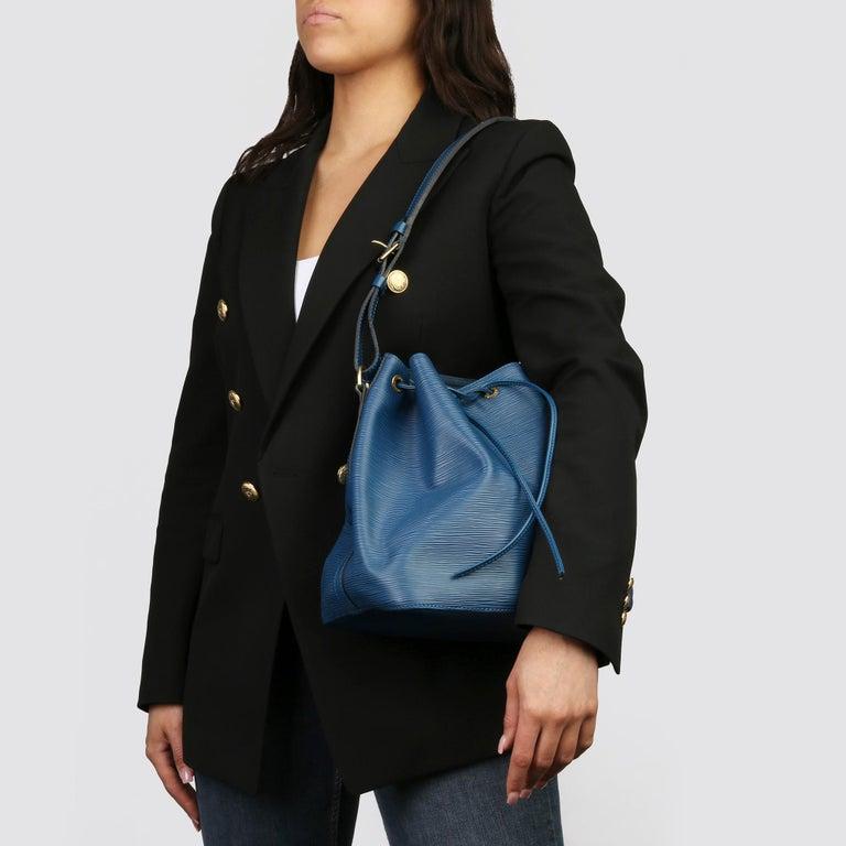 1997 Louis Vuitton Blue Epi Leather Vintage Petit Noé For Sale 4