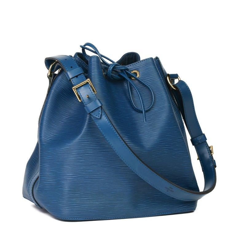 1997 Louis Vuitton Blue Epi Leather Vintage Petit Noé For Sale 5