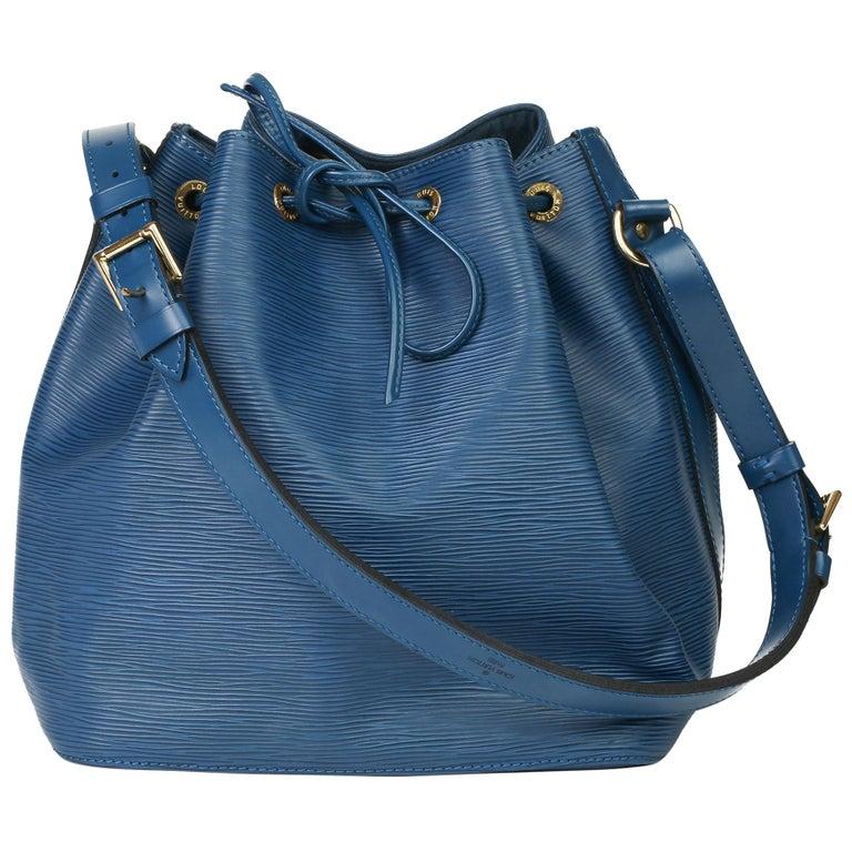 1997 Louis Vuitton Blue Epi Leather Vintage Petit Noé For Sale