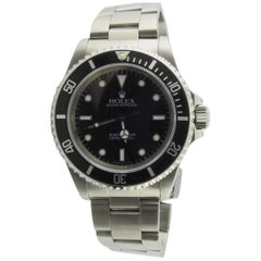 1997 Rolex Submariner Men's Watch 14060A Black Dial Black Bezel Box and Papers