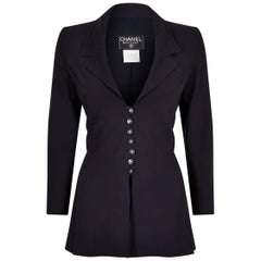 1997 Spring Collection Chanel Boutique Blazer With Scoop Lapel