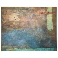 1998 Abstract Mixed-Media on Canvas Painting by Alba DeLeon, San Antonio