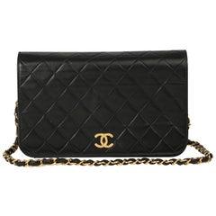 1998 Chanel Black Quilted Lambskin Medium Classic Single Full Flap Bag